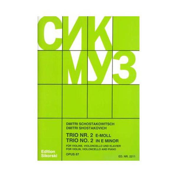 Trio Nr. 2 op. 67 for Violin, Cello and Piano, Dimitri Shostakovich