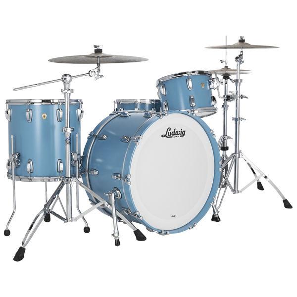 Slagverk Ludwig Classic Maple Pro Beat 24, Heritage Blue