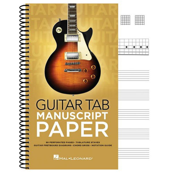 Noteblokk Gitar Tab and Chords - 80 sider - Spiralrygg