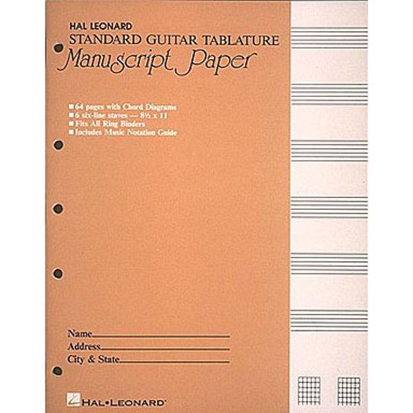Noteblokk Gitar Tabulatur - 8 staver - A4