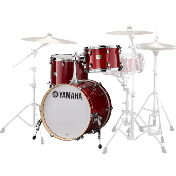 Slagverk Yamaha Stage Custom Birch SBP8F3CR, 18, u/Stativer, Cranberry Red