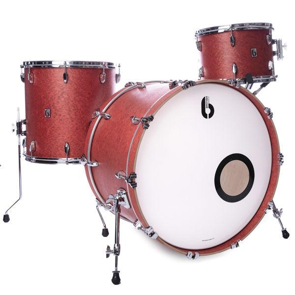 Slagverk British Drum Co. Legend Club Kit 24 Shell Pack LEG-24-CB-BS, 24, Buckingham Scarlett