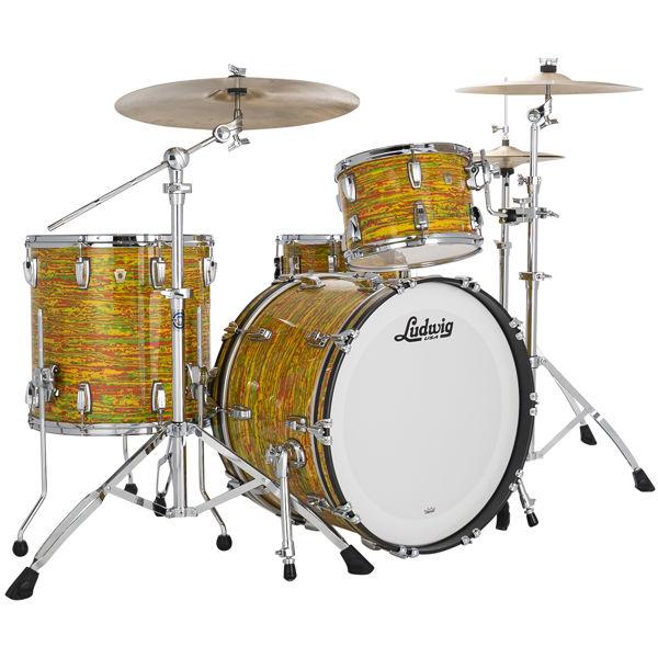 Slagverk Ludwig Classic Maple Fab 22 Shell Pack, m/Atlas Mount, Citrus Mod