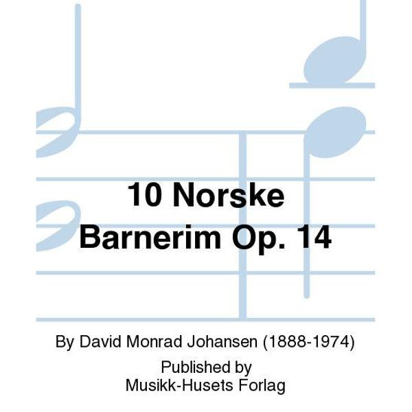 10 Norske Barnerim, David Monrad Johansen - Piano