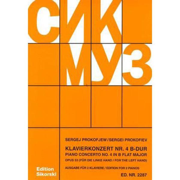 Piano Concerto No. 4 in B Flat Major Op. 53 - Prokofjew - Edition for 2 Pianos