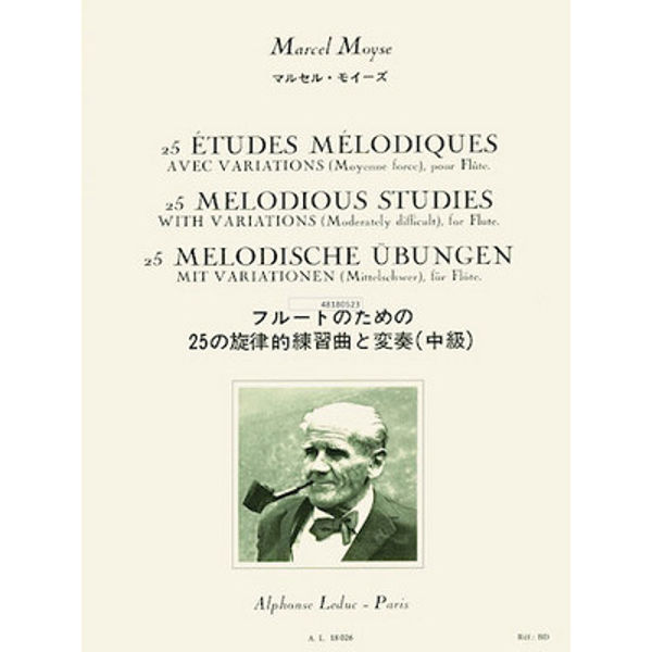 Moyse 25 Melodious Studies with variations for Flute
