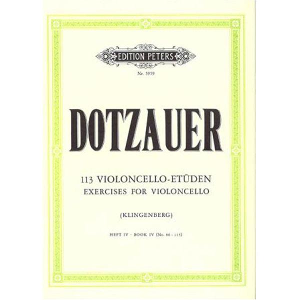 Dotzauer 113 Violoncello-Etüden hft 4 no 86 - 113