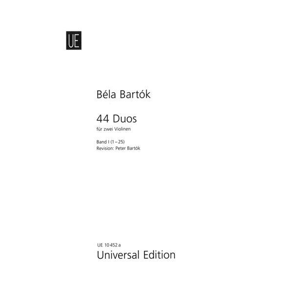 44 duos, vol 1. Fiolin. Bela Bartok