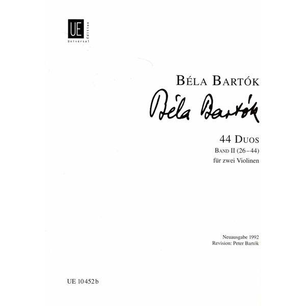 44 duos, vol 2. Fiolin. Bela Bartok