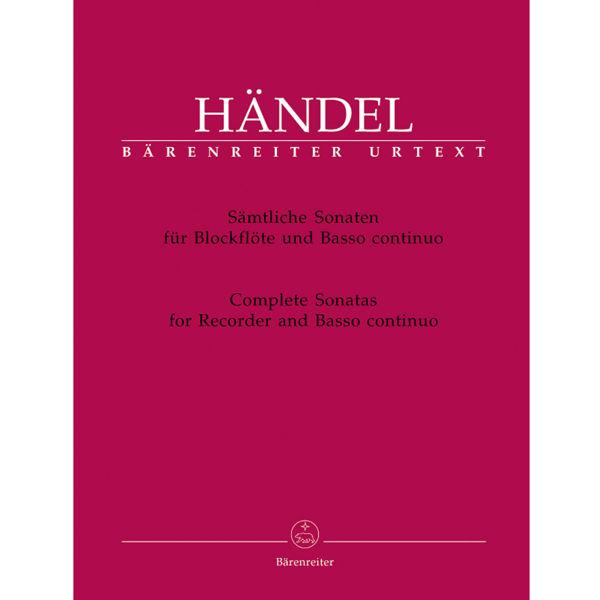 Complete Sonatas for Recorder and Basso continuo, Händel