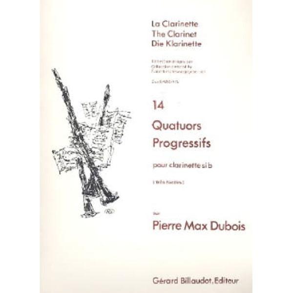 14 Quatuors Progressifs, Clarinet Quartet, Dubois