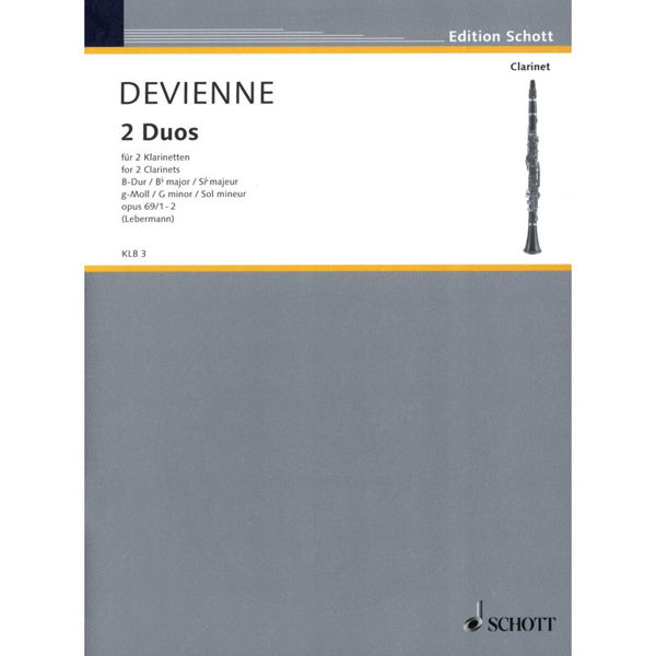 2 Duos for 2 Clarinets, Bb-Dur/G-moll Opus 69/1-2,  Devienne