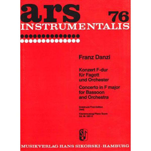 Concerto in F major for Bassoon and Orchestra - Piano Score - Danzi
