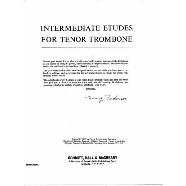 Intermediate Etudes for Trombone - Tommy Pederson