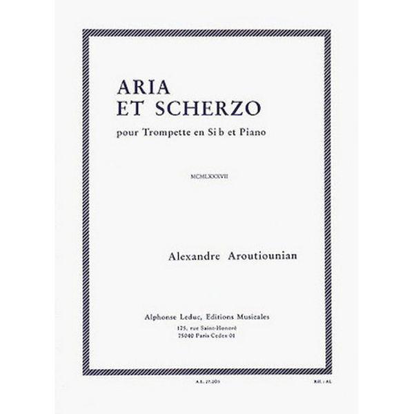 Aria et Scherzo pour Trompette en Sib et Piano, Alexandre Aroutiounian