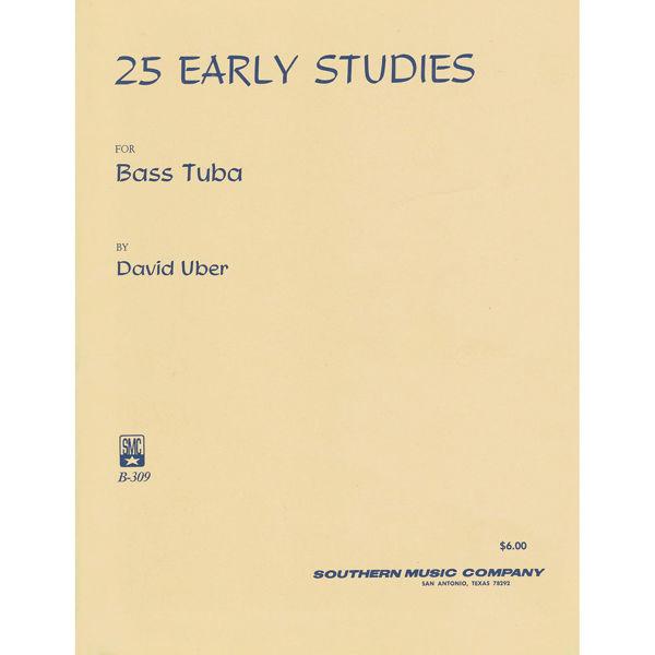 25 Early Studies for Bass Tuba, David Uber