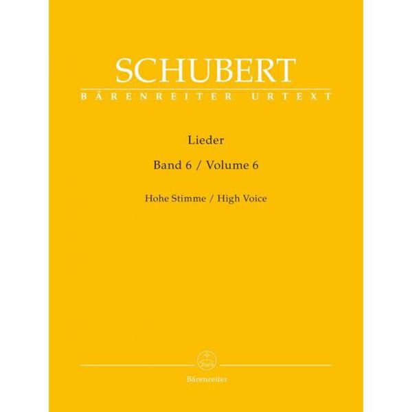 Schubert - Lieder Heft 6 - High Voice