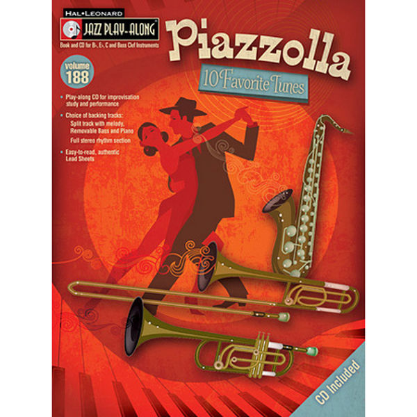 10 Favorite Tunes, Astor Piazzolla. Jazz Play Along Vol. 29 (Bb, Eb and C instruments)