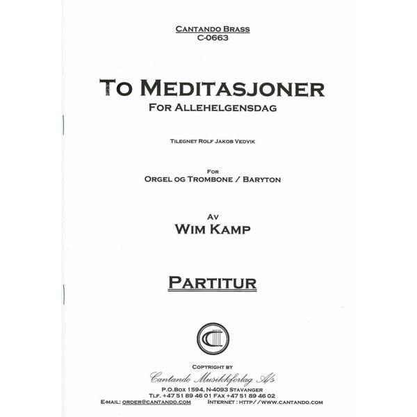 To Meditasjoner for Allehelgensdag - Euphonium