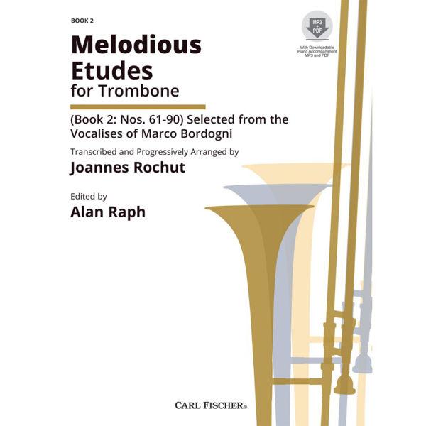Melodious Etudes for Trombone - Book 2 - Bordogni/Rochut m/CD (MP3/PDF) Nr 61-90