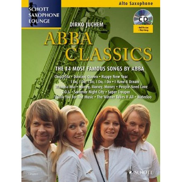 ABBA Classics - 14 Famous songs for Alt-Sax and Piano or CD