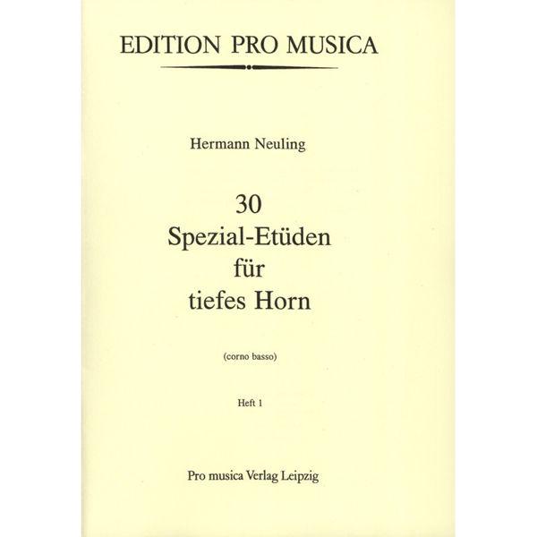 30 Spezial-etuden Band 1, Hermann Neuling. Horn