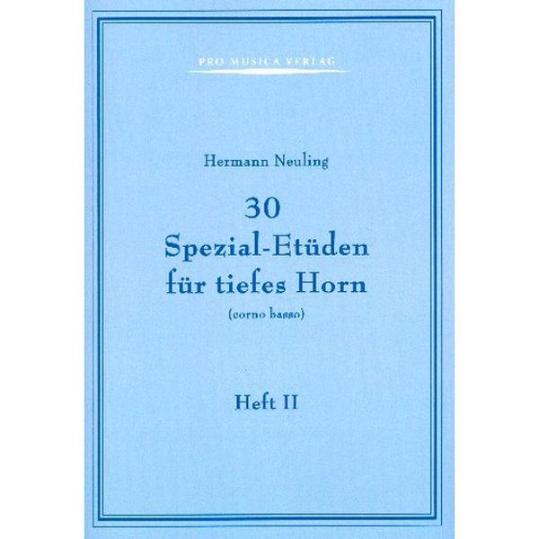 30 Spezial-etuden Band 2, Hermann Neuling. Horn