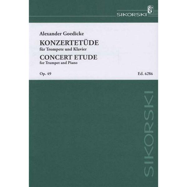 Concert Etude for Trumpet and Klavier, Op 49 Alexander Goedicke
