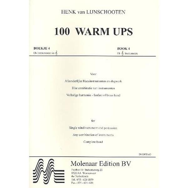 100 Warm Ups, Bok 4. Eb instrumenter G-nøkkel