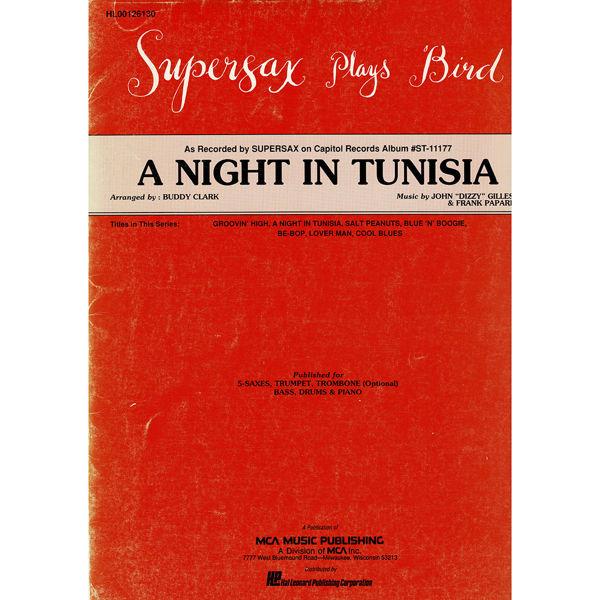 A Night in Tunisia, Dizzy Gillespie arr Buddy Clark. Jazz Ensemble