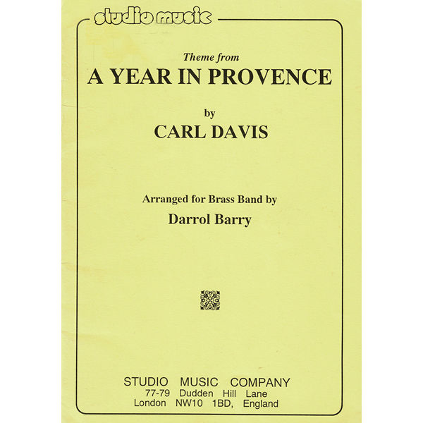 A Year In Provence, A (Carl Davis/Barry) - Brass Band