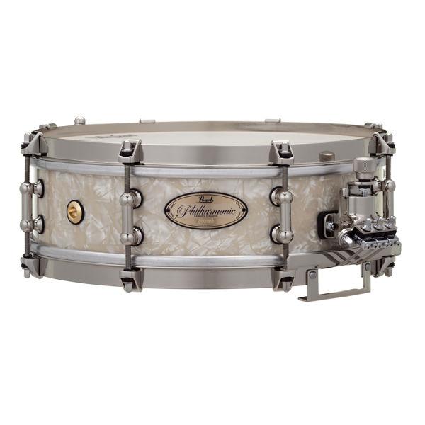 Skarptromme Pearl Philharmonic Maple PHP1340/N405, 13x4, 8-Ply Maple, Nickel Hwd, Nicotine White Marine Pearl