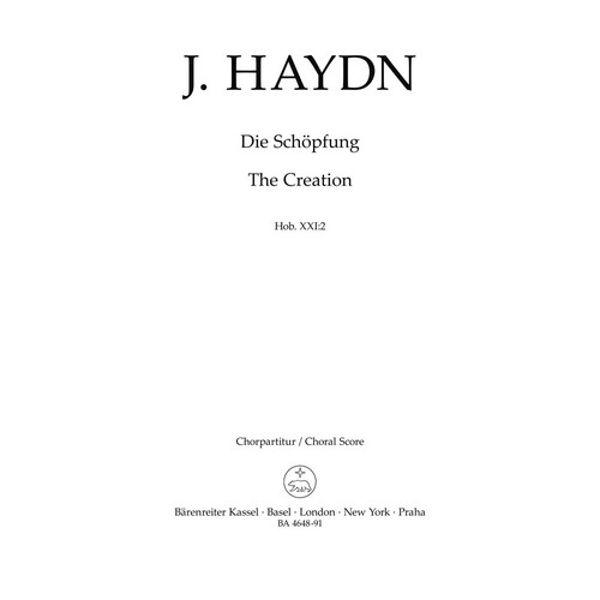 The Creation/Die Schöpfung, Joseph Haydn (Choral Score) (Orchestra/Chorus/Soloists)