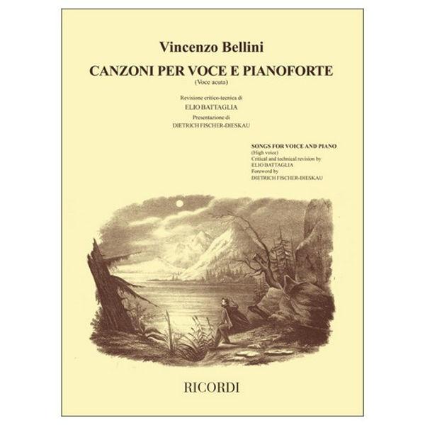 Canzoni per voce e pianoforte, Vincenzo Bellini. High Voice