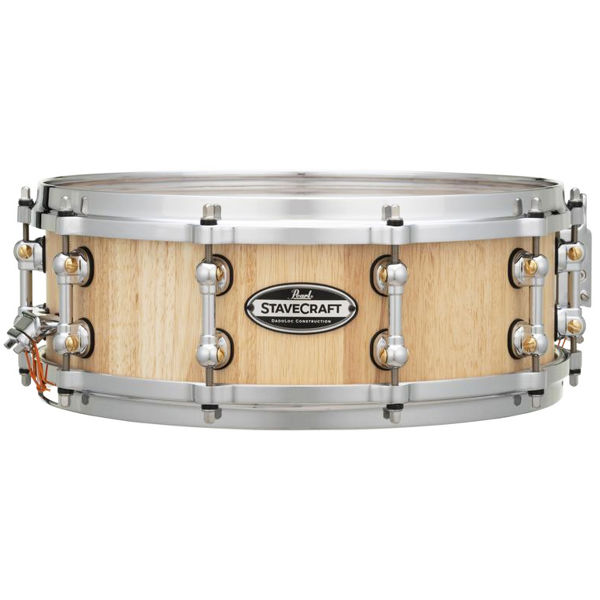 Skarptromme Pearl Stave Craft SCD1450TO/186, 14x5, Thai Oak Hand Rubbed Natural Maple