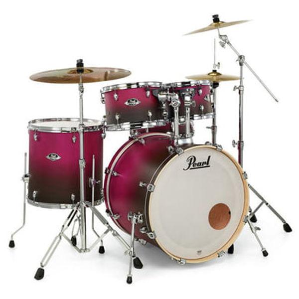 Slagverk Pearl Export EXL725SBR/C217, 22 Raspberry Sunset m/Stativer og Cymbaler