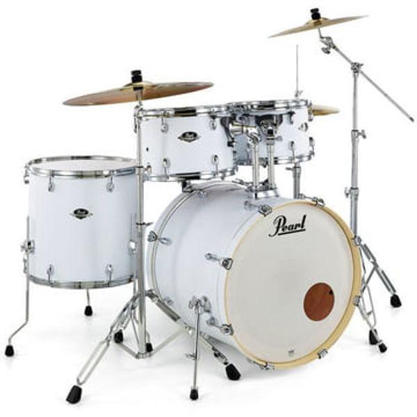 Slagverk Pearl Export EXX705NBR/C735, 20 Satin White m/Stativer og Cymbaler