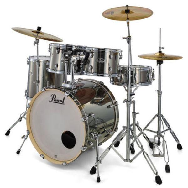 Slagverk Pearl Export EXX725SBR/C21, 22 Smokey Chrome m/Stativer og Cymbaler