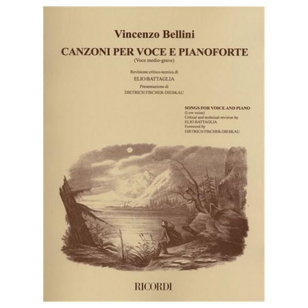 Canzoni per voce e pianoforte Vol. 2, Vincenzo Bellini. Low Voice
