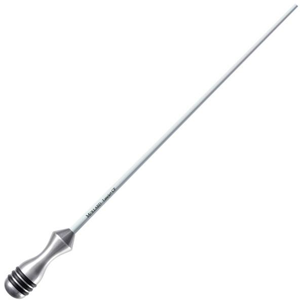 Taktstokk Mollard Lancio 12 Silver Handle Carbon Fiber White