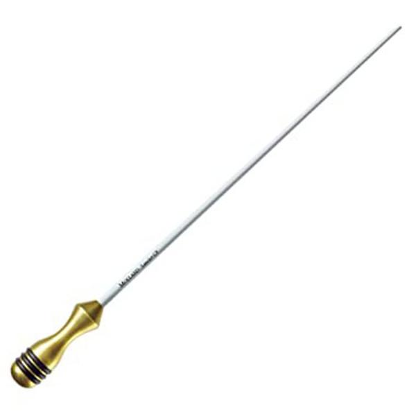 Taktstokk Mollard Lancio 16 Silver Handle Carbon Fiber White