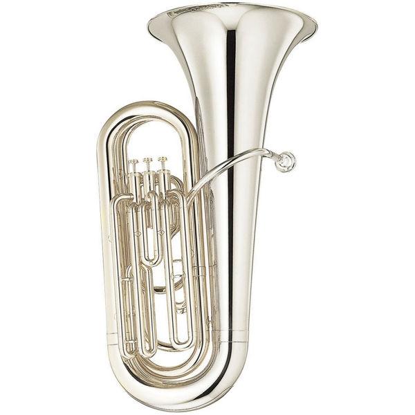Tuba Bb Yamaha YBB-105 Student Modell 3 vent, Forsølvet