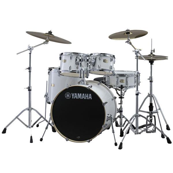 Slagverk Yamaha Stage Custom Birch SBP0F5PWH6W, 20, m/Stativer, HW680W, Pure White