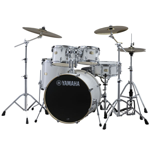 Slagverk Yamaha Stage Custom Birch SBP2F5PWH6W, 22, m/Stativer, HW680W, Pure White