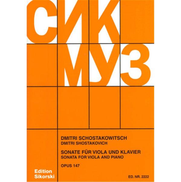 Schostakowitsch Sonata for Viola and Piano Opus 147 (Shostakovich)