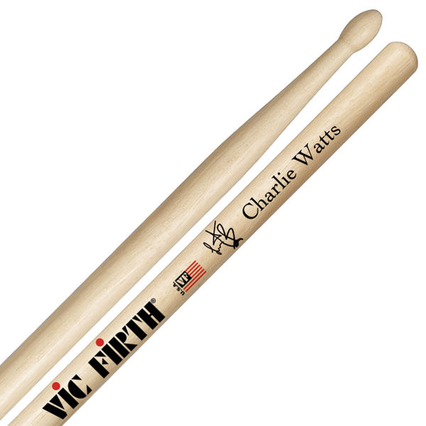 Trommestikker Vic Firth Signature Charlie Watts SCW, Hickory, Wood Tip