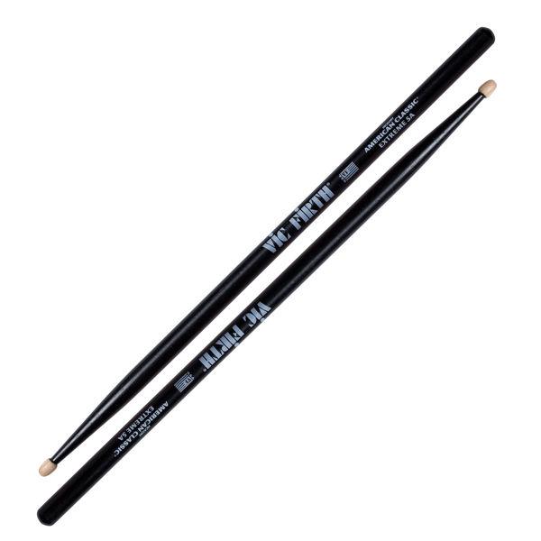 Trommestikker Vic Firth American Classic Black X5AB, Extreme, Black Hickory, Wood Tip