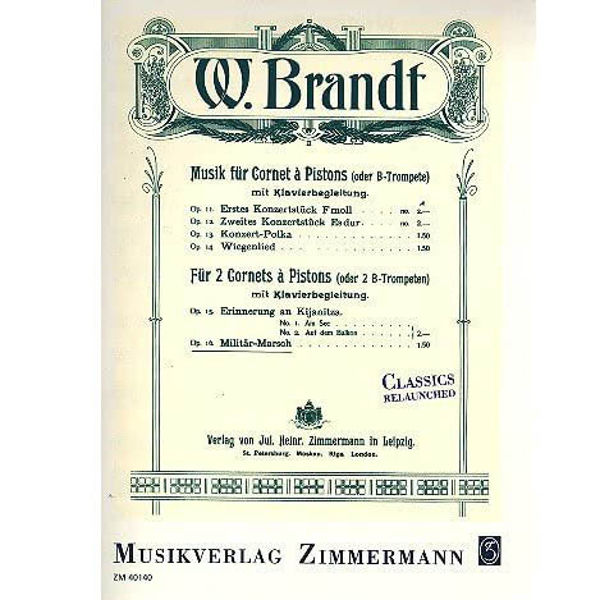 Brandt: Military March Op. 16 2 Trumpets and Piano