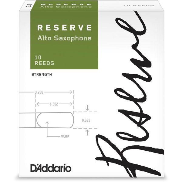 Altsaksofonrør Rico D'Addario Reserve 2.0 (10 pk)