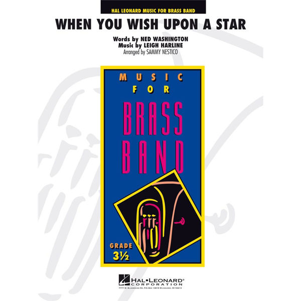 When You Wish Upon a Star, from Pinocchio.  Washington arr Sammy Nestico/Marc Jeanbourquin. Brass Band